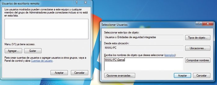 Escritorio remoto Windows 7 2