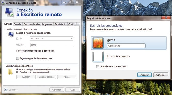 Escritorio remoto Windows 7 6