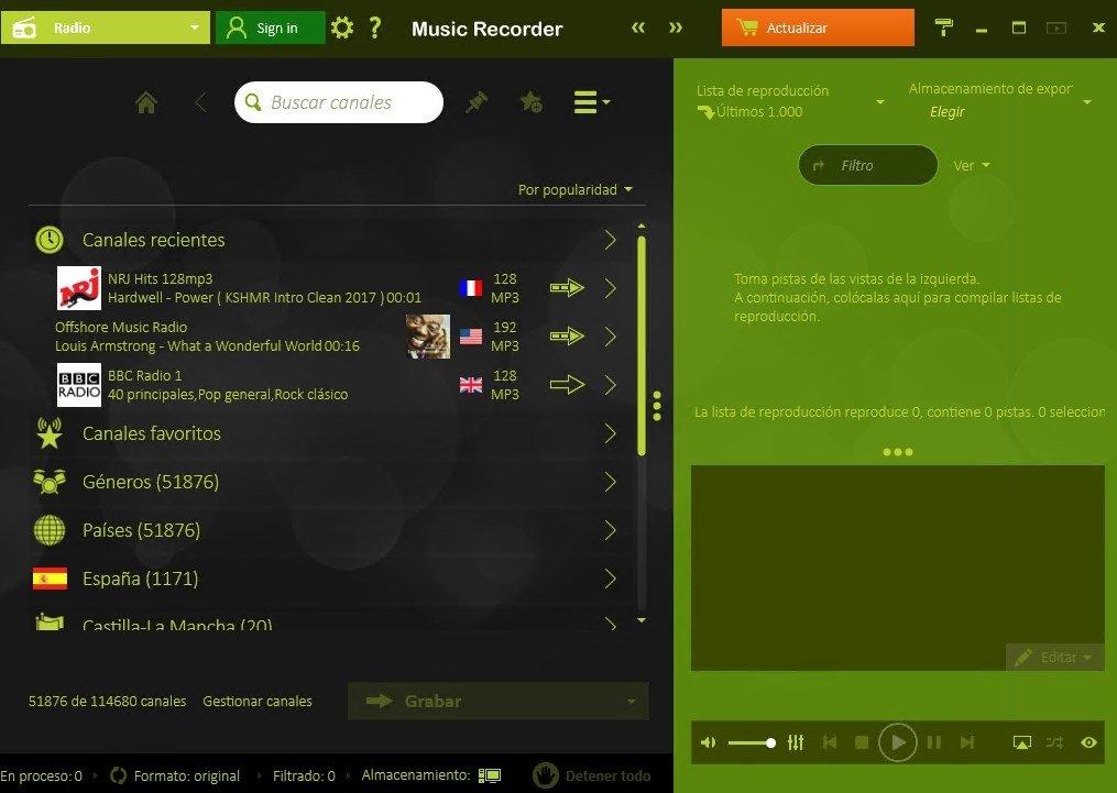 Escucha y descarga la mejor música online con Music Recorder