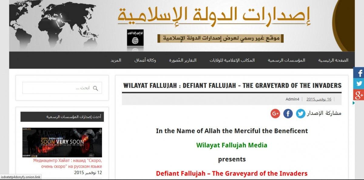 Este es el aspecto que muestra la web de ISIS en darknet