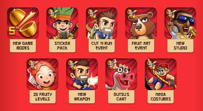 Estos juegos de Halfbrick ahora tienen en su interior un poquito de Fruit Ninja