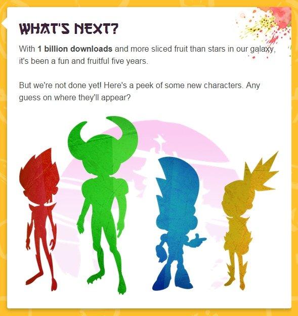Estos serán los nuevos personajes de Halbrick ¿aparecerán quizá en Fruit Ninja?