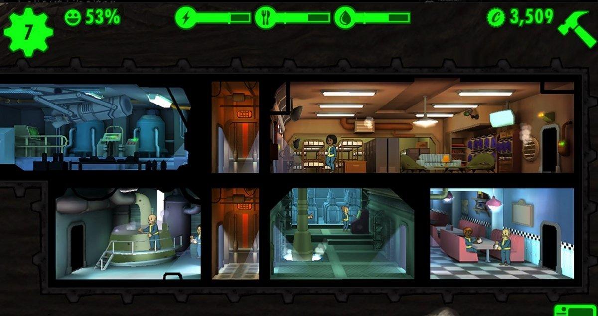 Estructura del refugio de Fallout Shelter