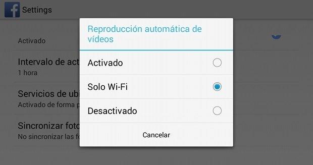 Evita la reproducción automática de vídeos en Facebook para Android - imagen 4