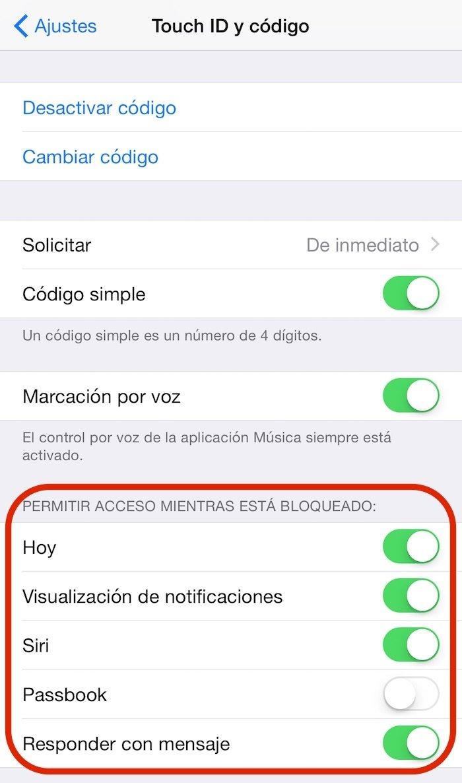 Evitar acceder a funciones con pantalla bloqueada