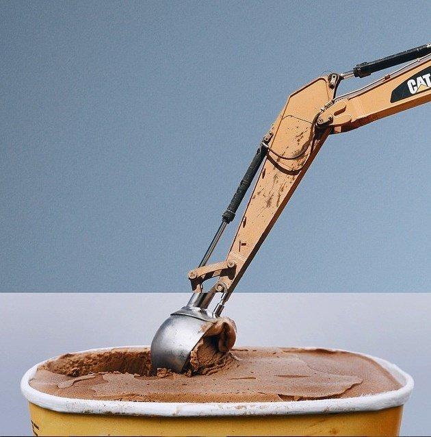 Excavadora + Helado