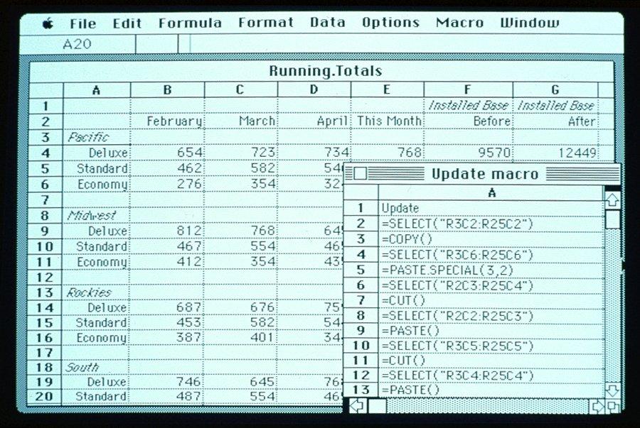 Excel 1.0, la versión que se quedó en Mac OS