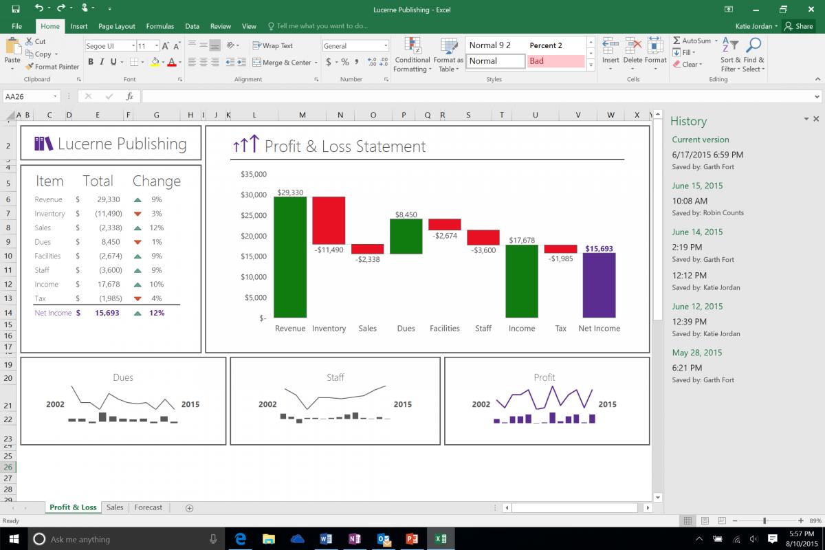 Excel y su precioso Ribbon verde