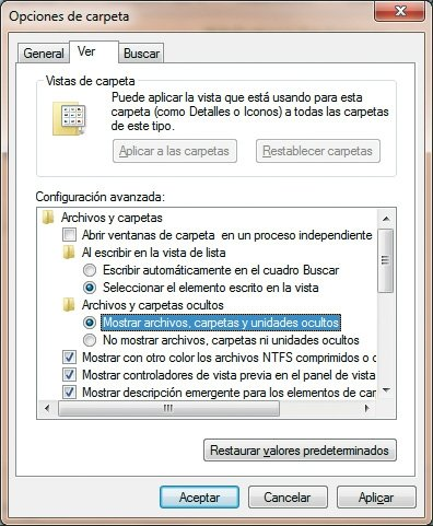 Explorador de Windows 7