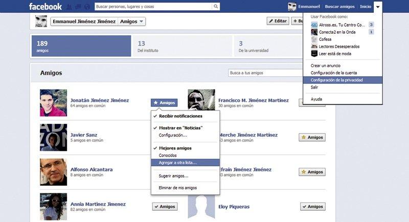 Reglas para proteger tu perfil de Facebook