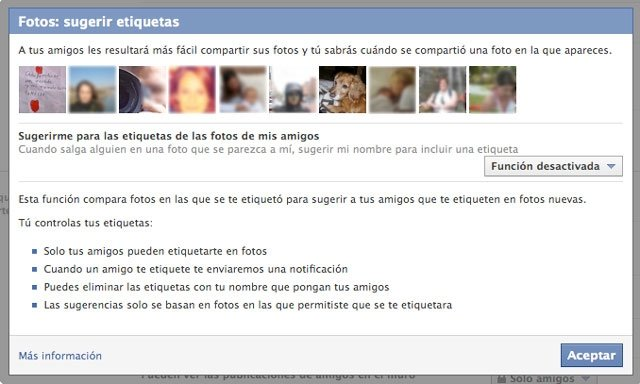 Facebook etiquetas fotos