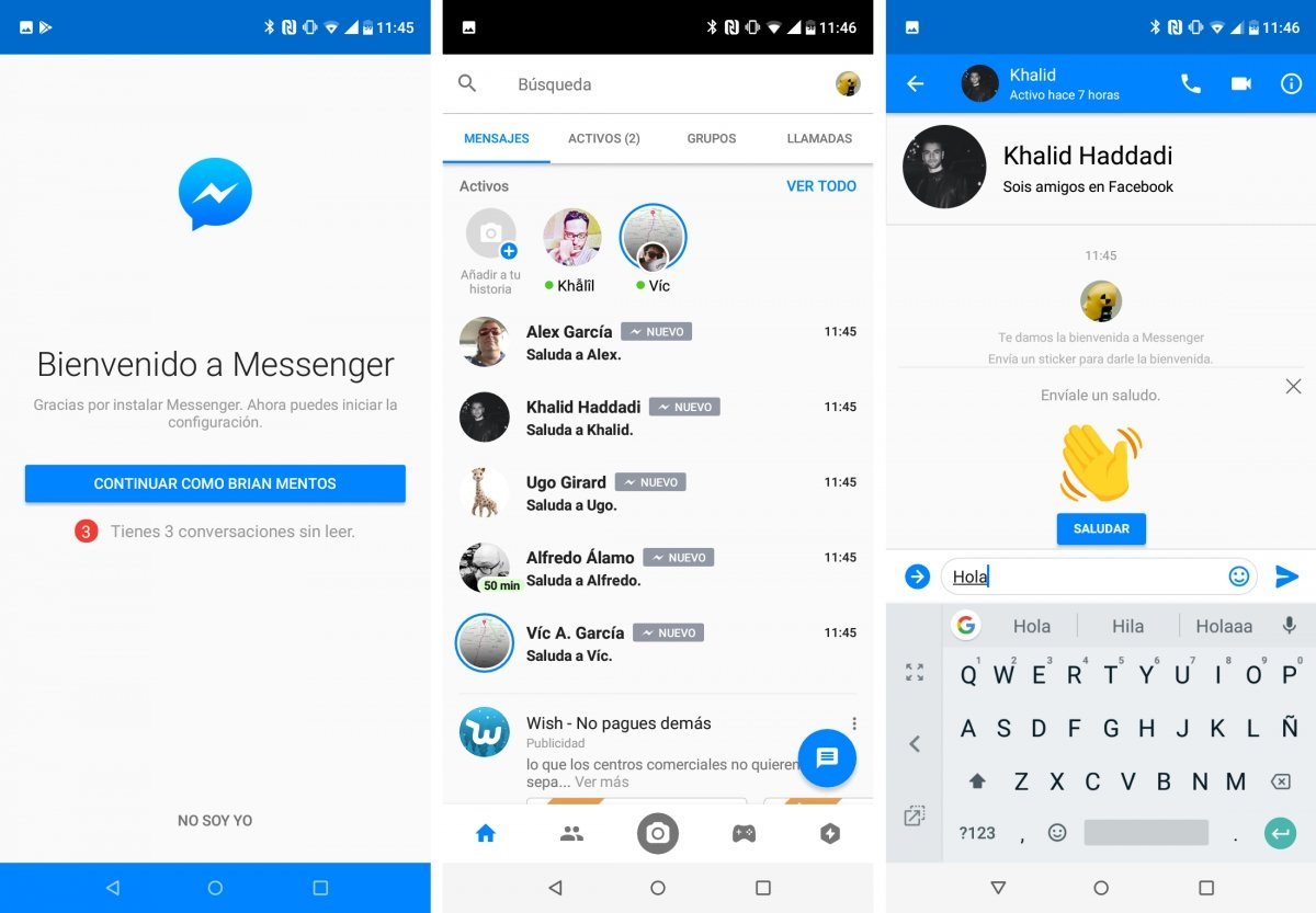 Facebook Messenger allows you to chat with Facebook contacts