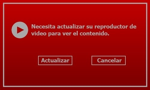 Falsa actualización del reproductor de video
