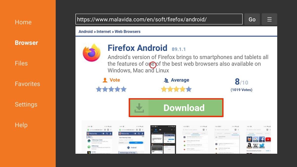 Ficha de descarga de Firefox en Malavida