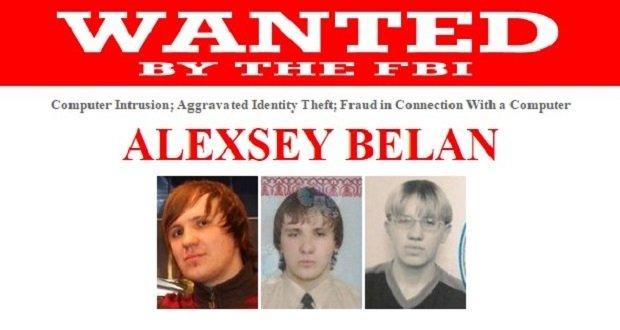 Ficha del FBI de Alexsey Belan