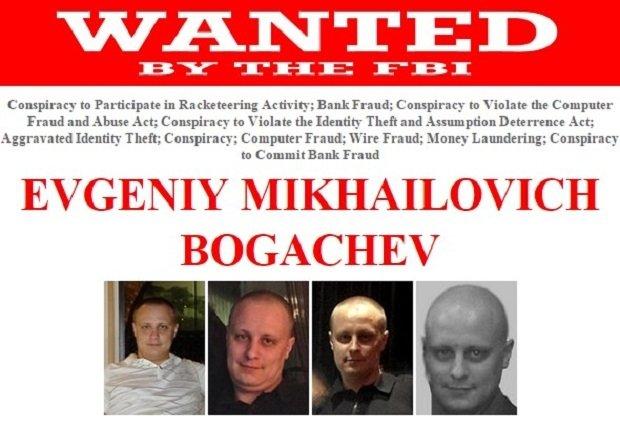 Ficha del FBI de Evgeniy Mikhailovich Bogachev