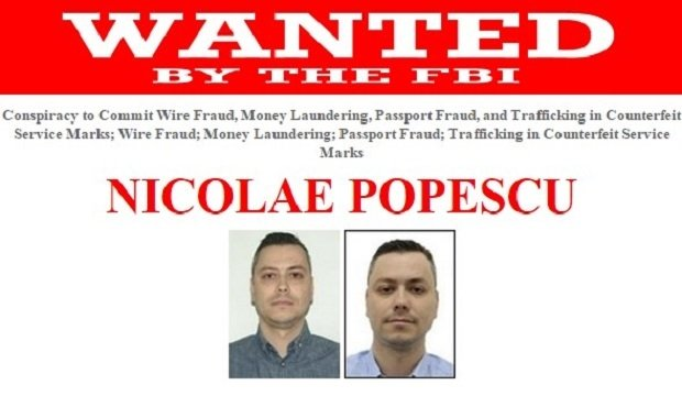 Ficha del FBI de Nicolae Popescu