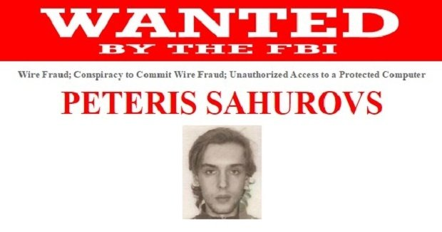 Ficha del FBI de Peteris Sahurovs