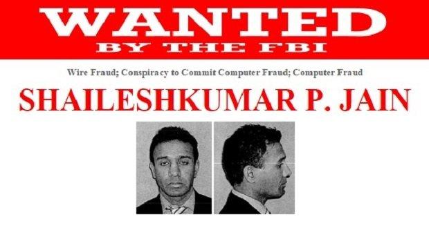 Ficha del FBI de Shailesh Kumar Jain