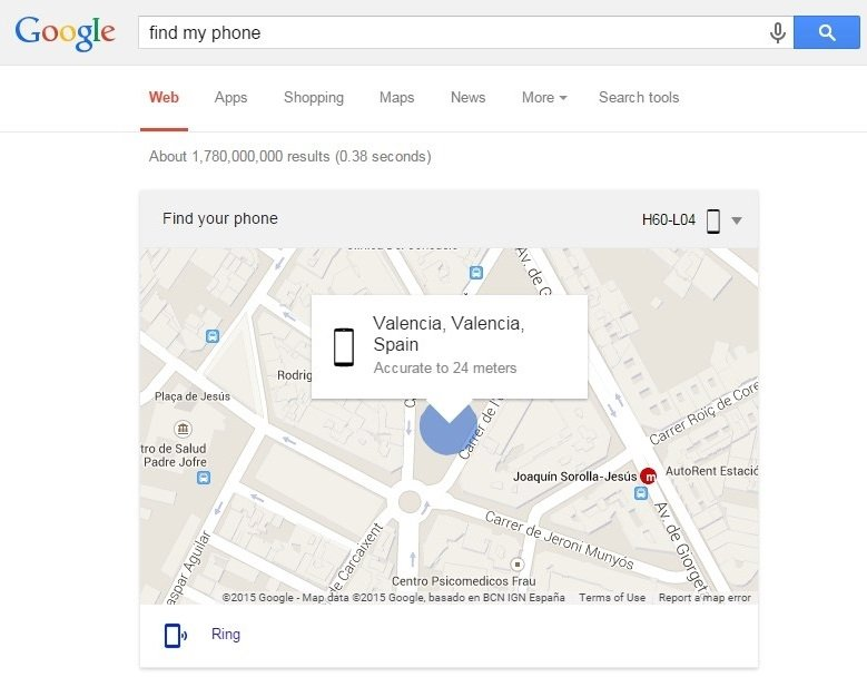 'Find my phone' encuentra mi smartphone
