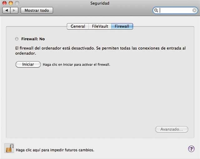 Firewall Mac OS