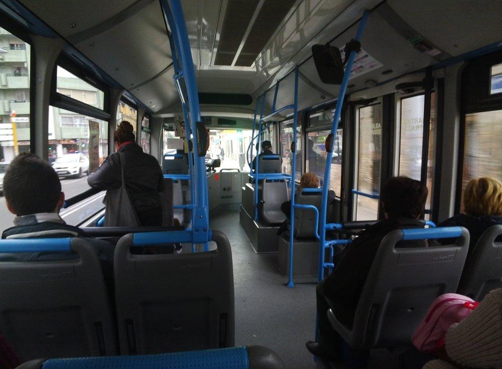 Foto desde las Google Glass del interior de un autobús