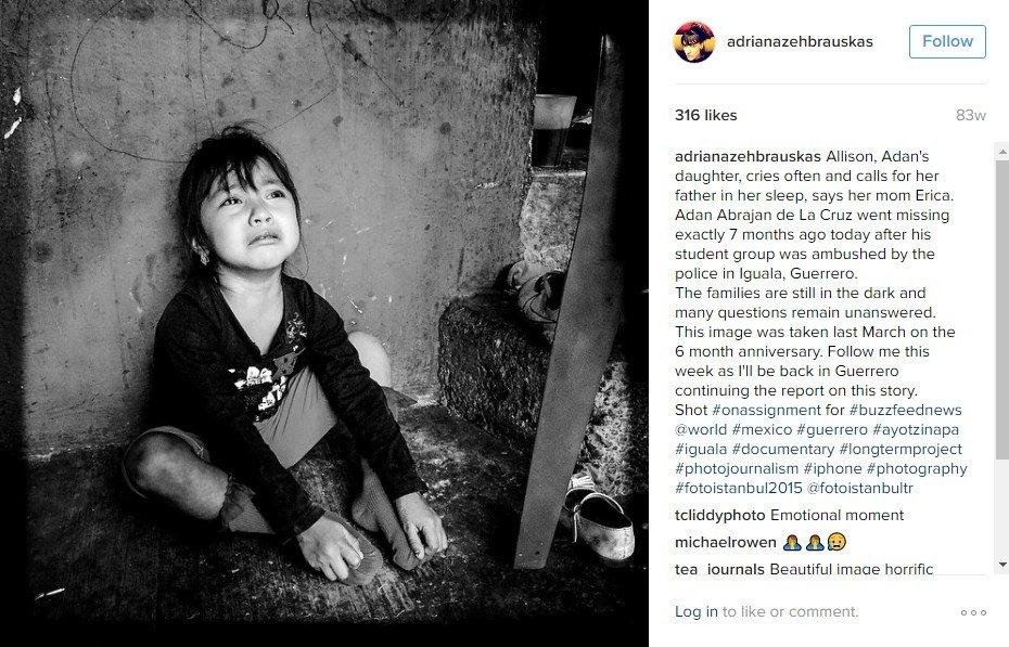 Foto que retrata el dolor de Allison, Guerrero (México)