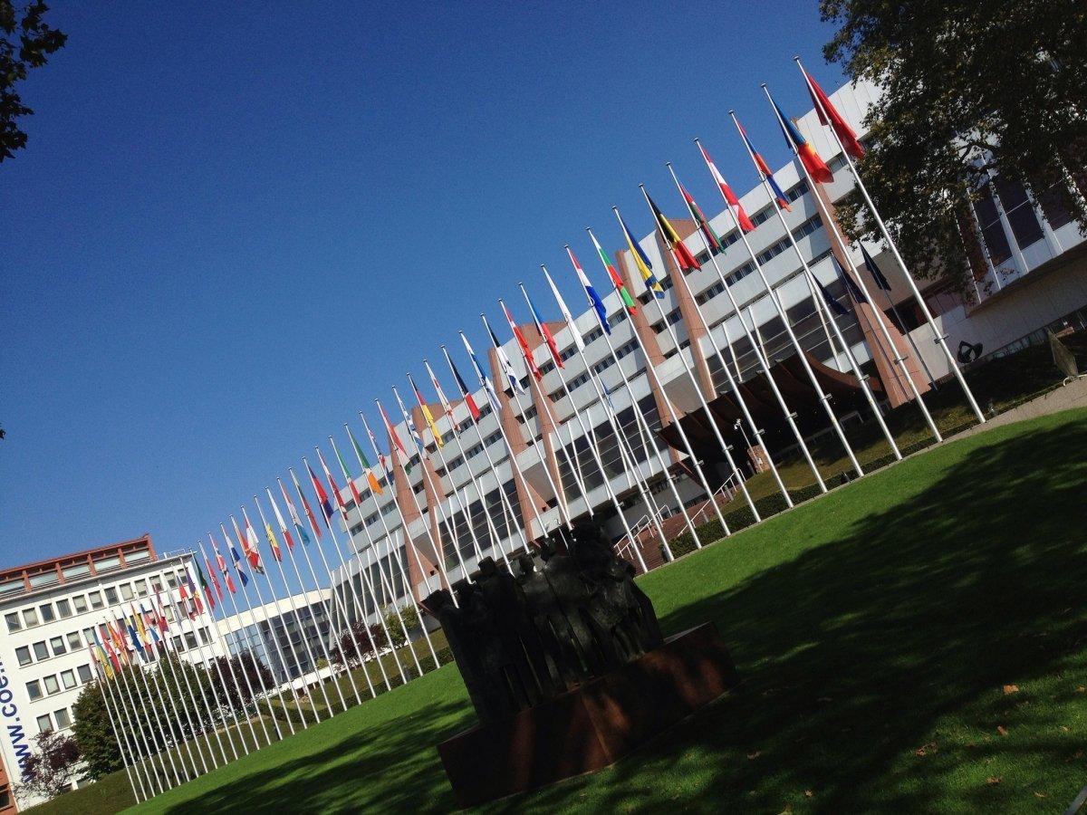 Fotografía de los exteriores de la sede del Consejo de Europa