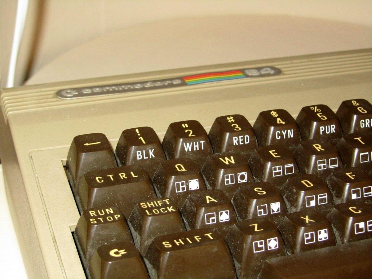 Fotografía de un Commodore 64