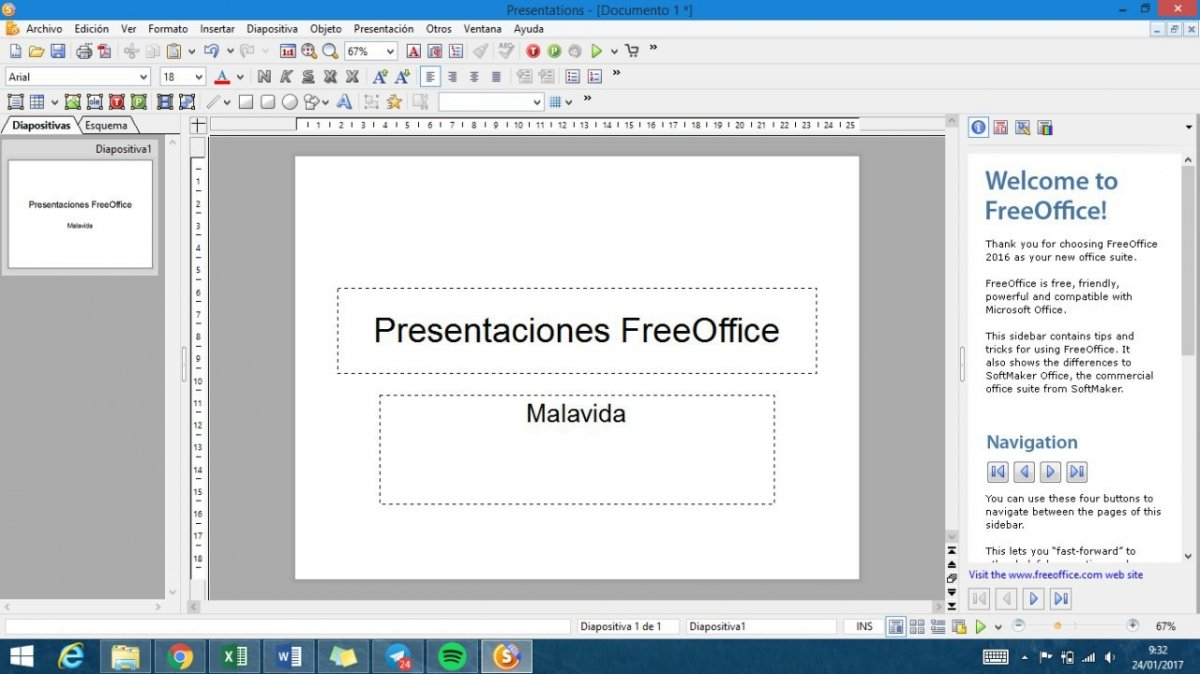 FreeOffice Presentations para Windows