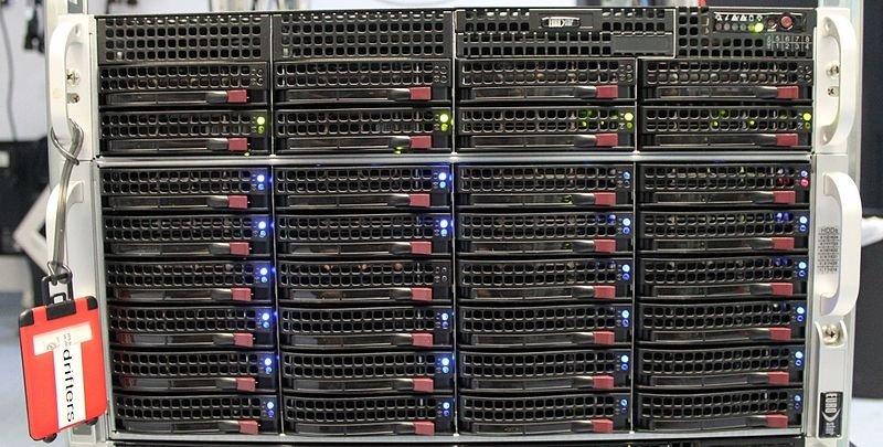 Frontal de un servidor ZFS