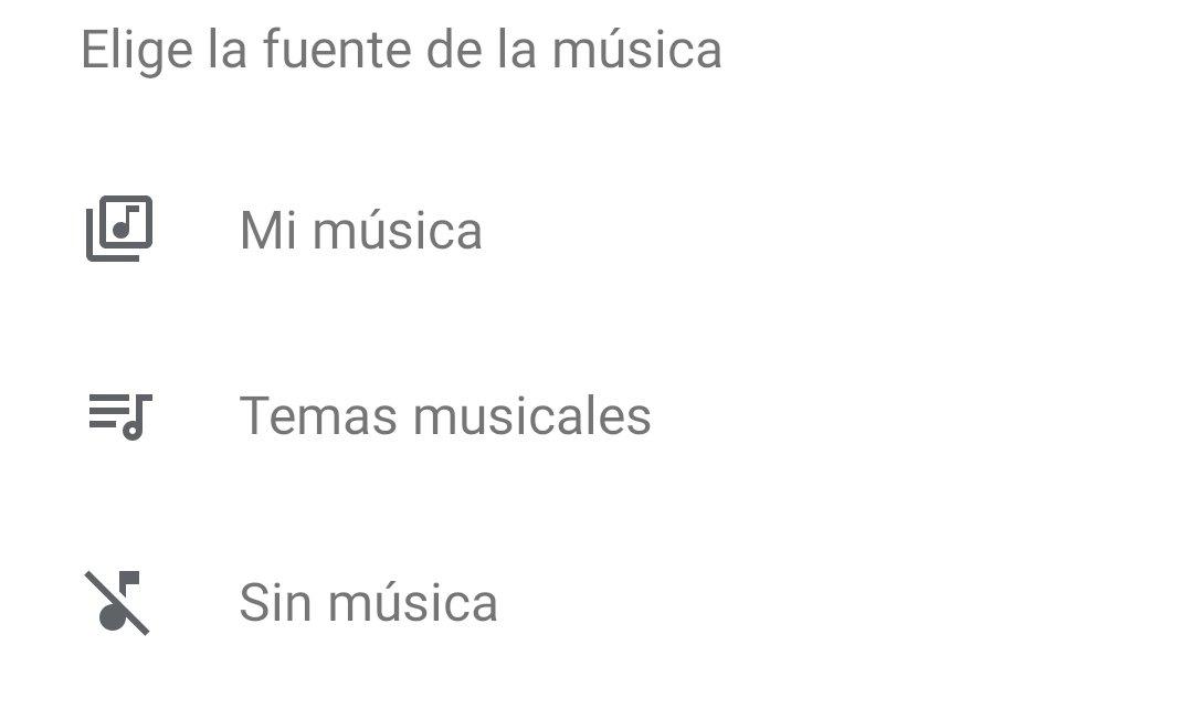 Fuentes de música en Google Fotos