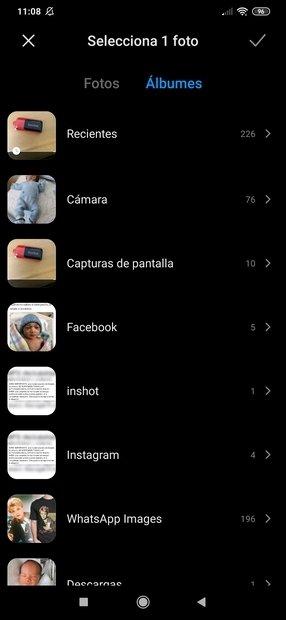 Galería de fotos de Android