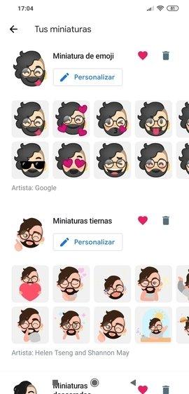 Galería personalizada de Emoji Mini