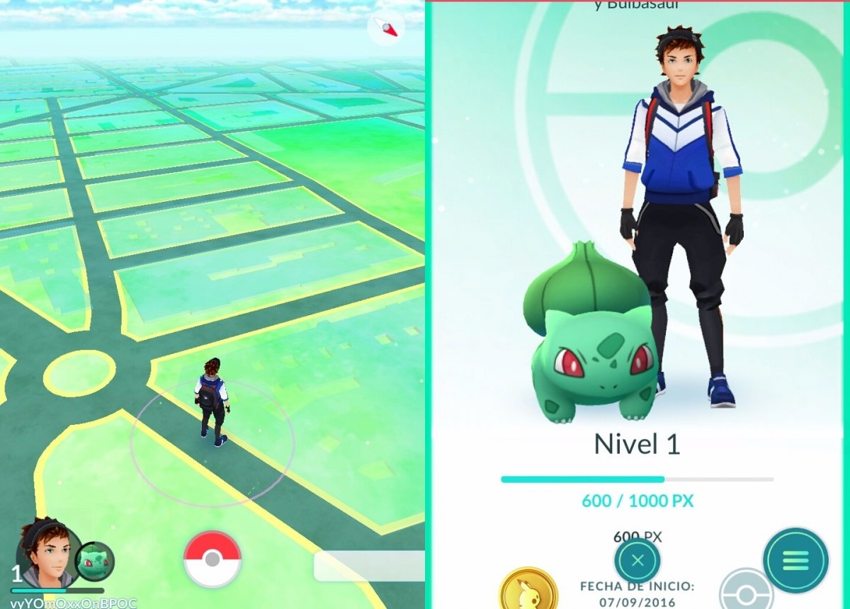 Gameplay de Pokémon GO