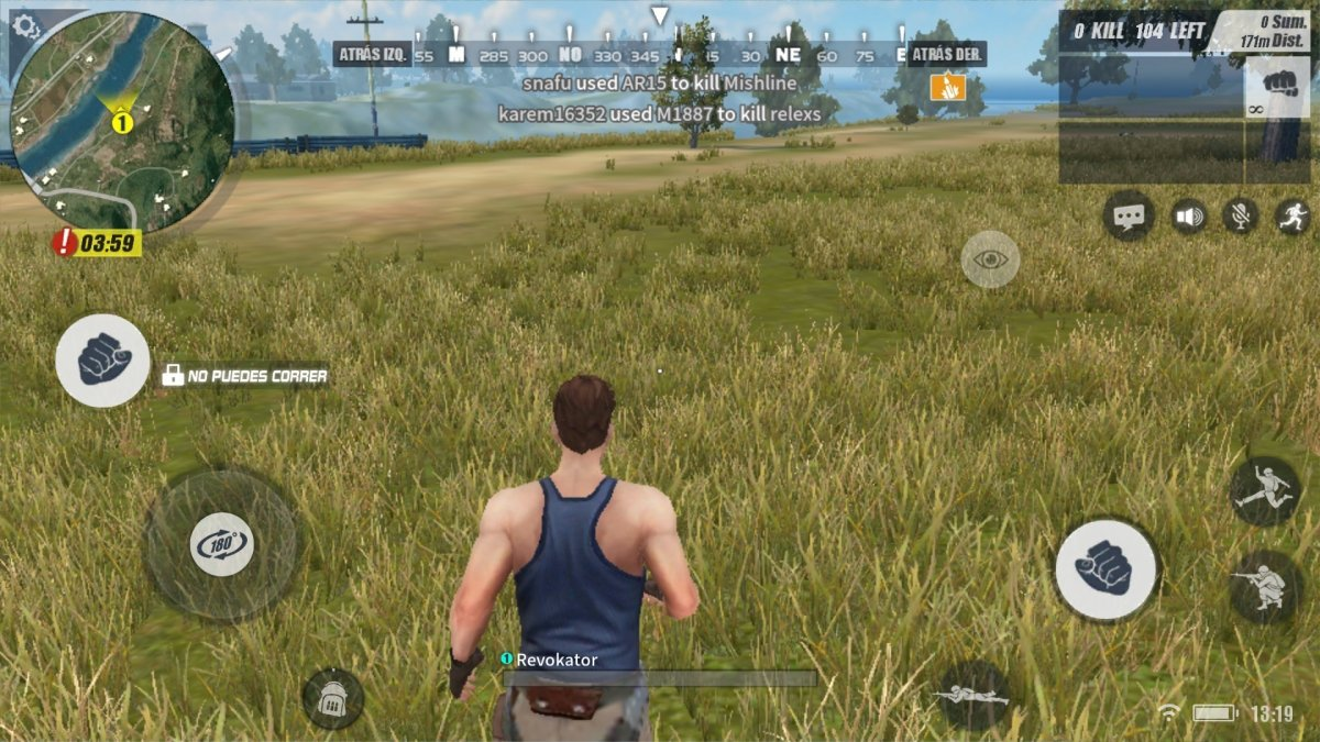 Gameplay de Rules of Survival