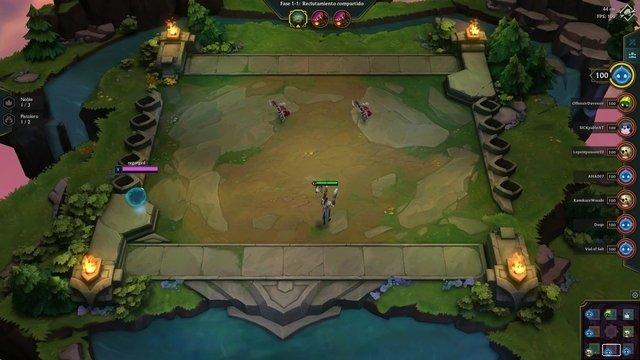 Gameplay de Teamfight Tactics
