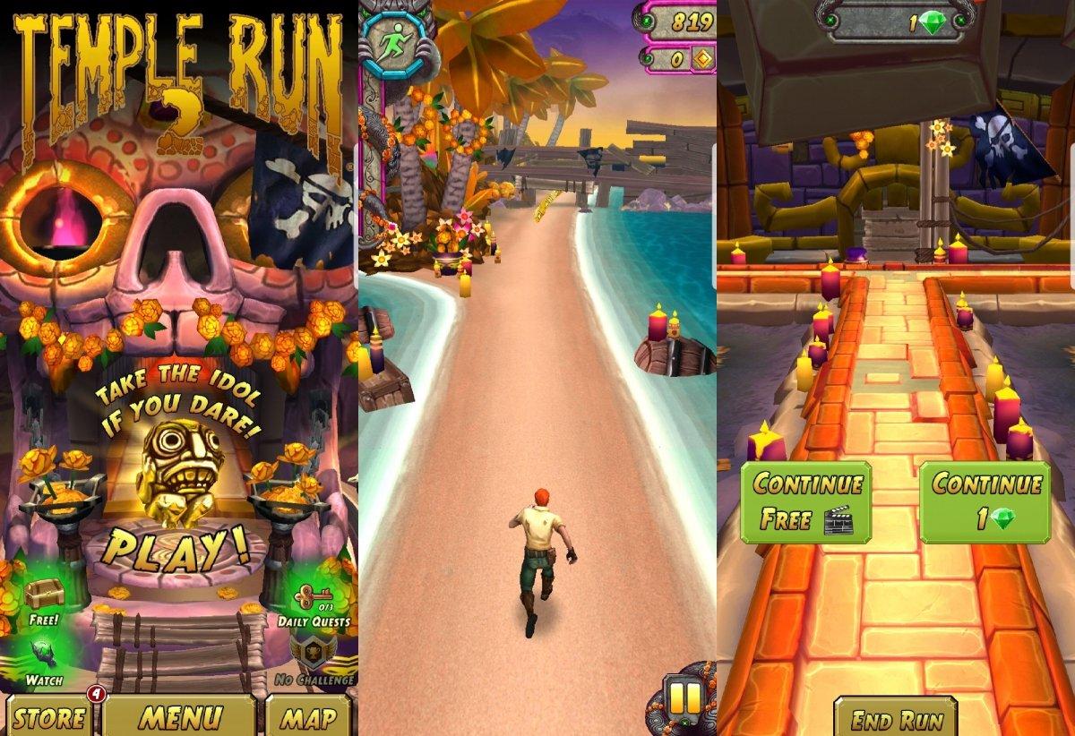 Gameplay de Temple Run 2, uno de los más populares