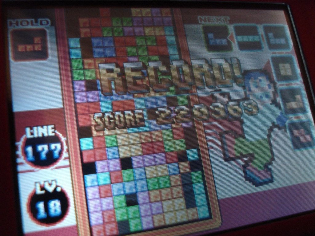 Gameplay de Tetris en Nintendo DS