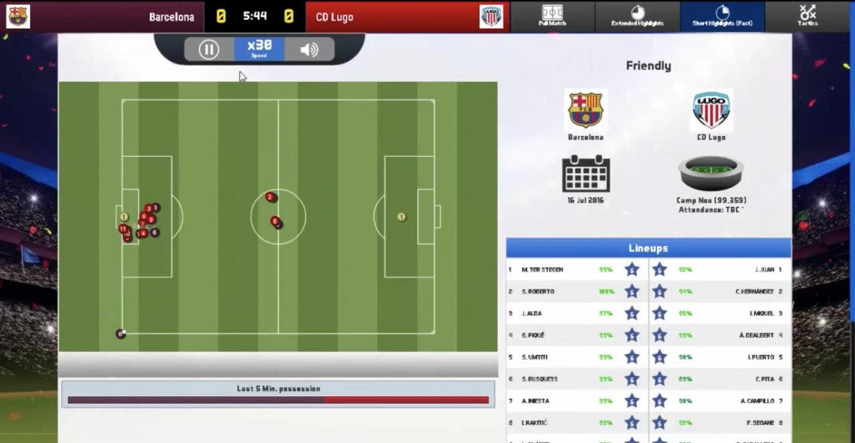 Gameplay Soccer Manager 2017