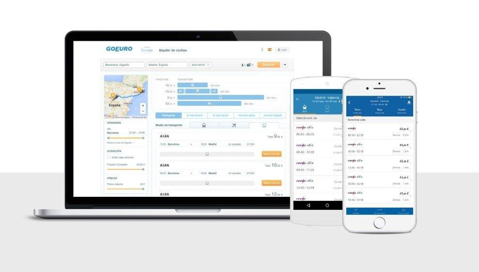 GoEuro está presente en webapp, Android y iPhone