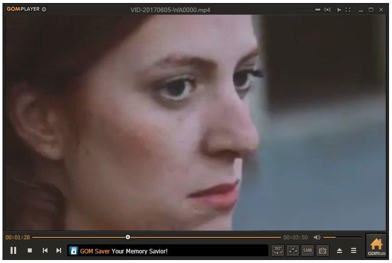 GOM Player reproduciendo un vídeo MP4