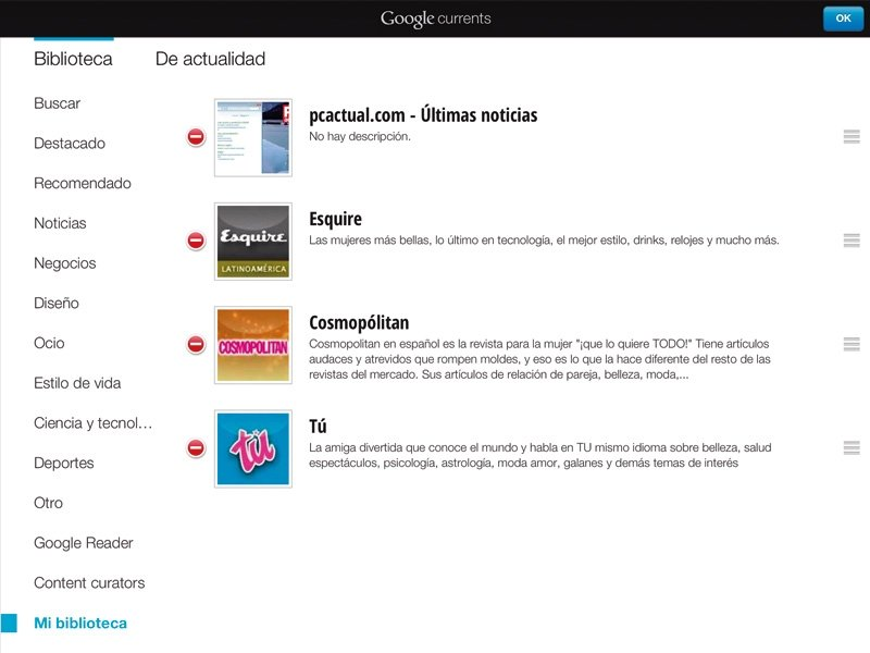 Google Currents RSS 5