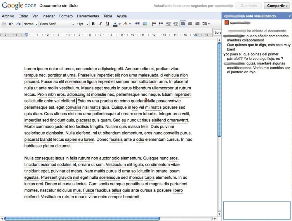 Google Docs Colaboración
