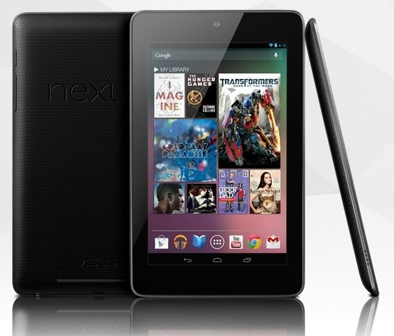 Google Nexus 7 tableta detalle