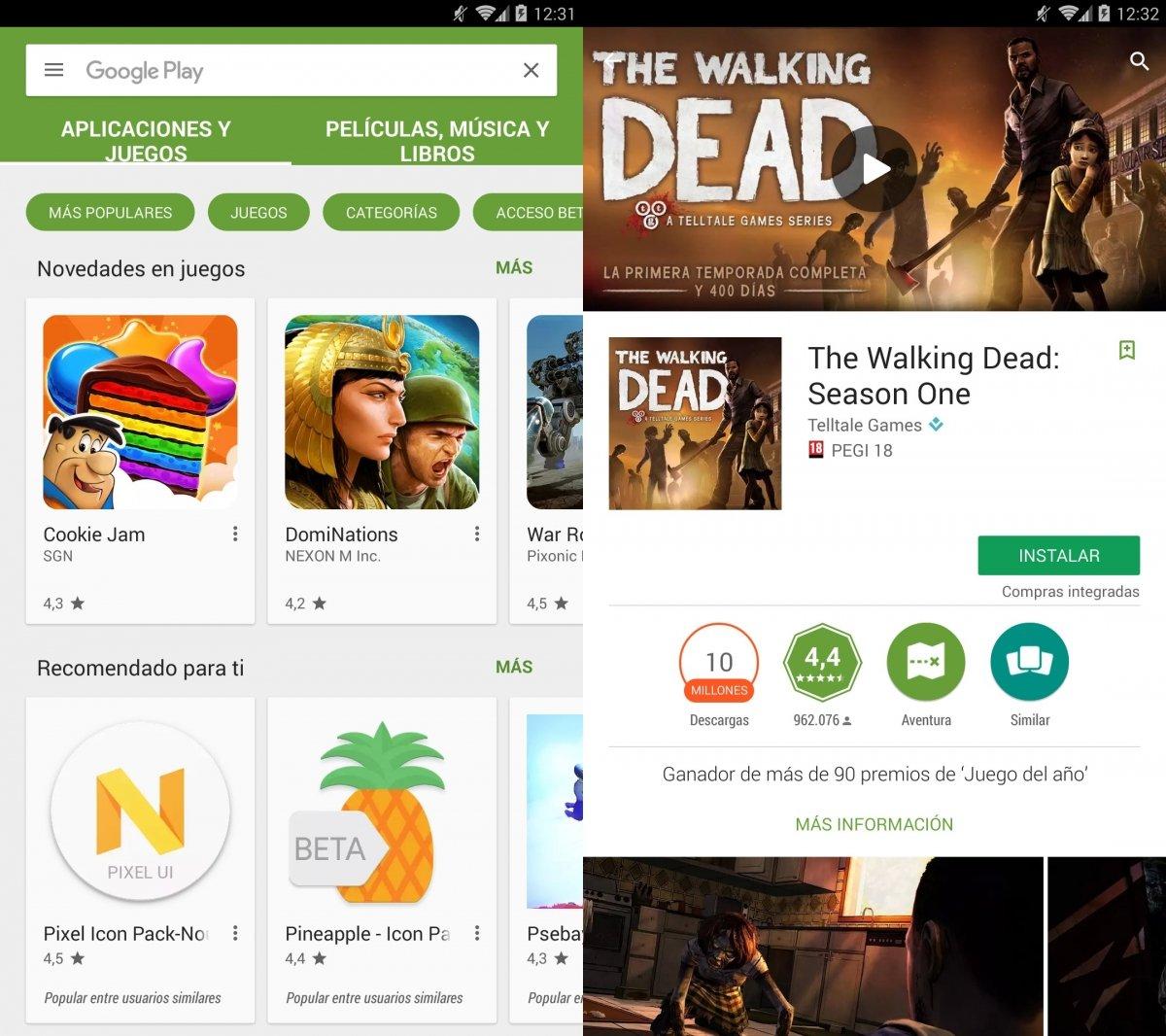 Google Play, la tienda oficial de Android