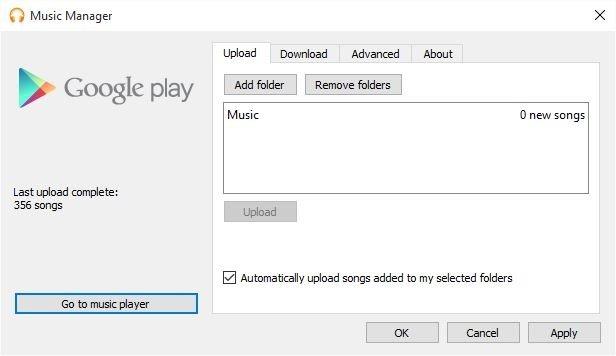 Google Play Music Manager permites subir la música automáticamente
