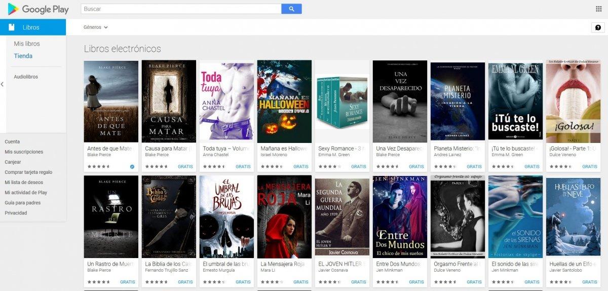 Google Play ofrece muchos libros gratuitos
