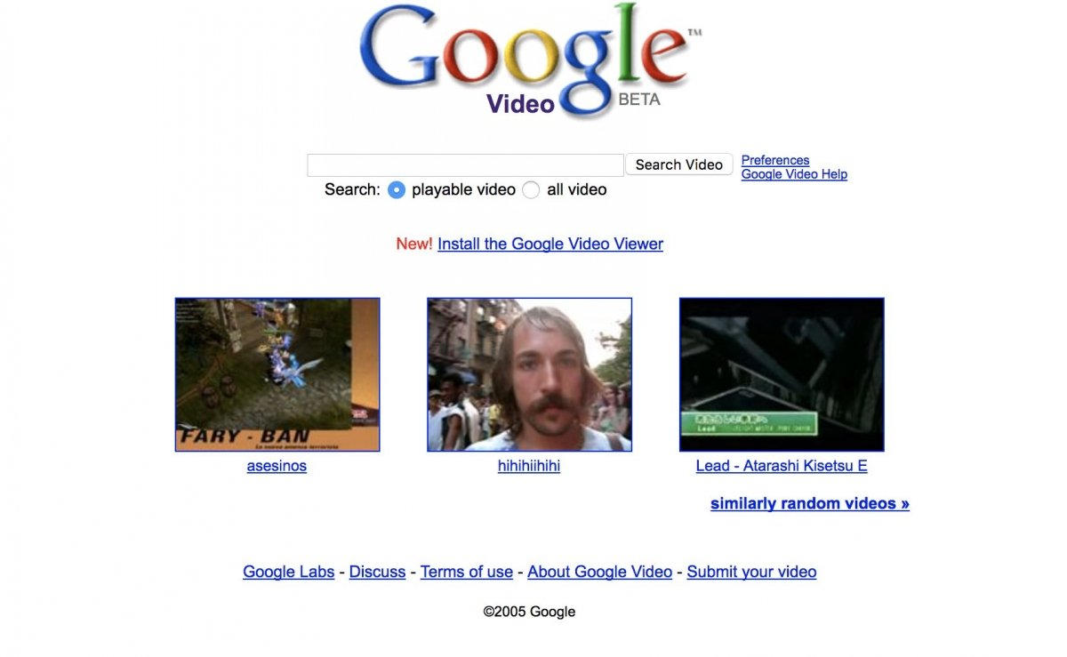 Google Video, competidor directo de YouTube