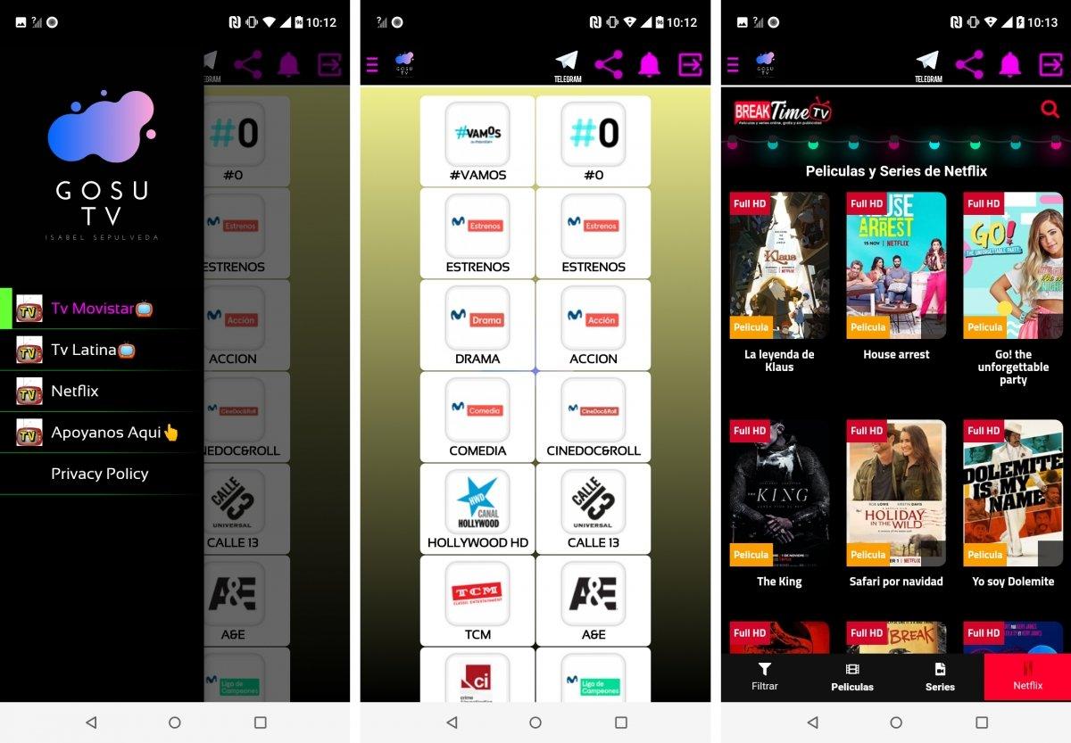 Gosu TV ofrece TV, series y pelis totalmente gratis